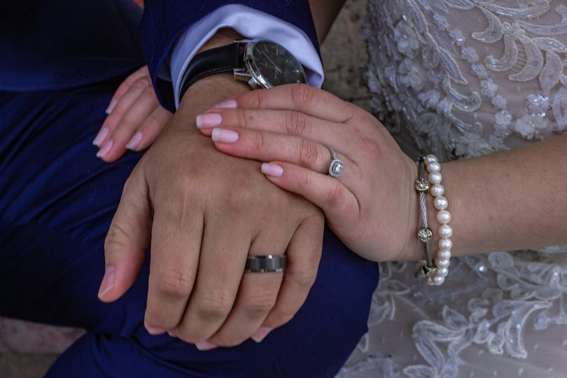 The rings, both his and hers