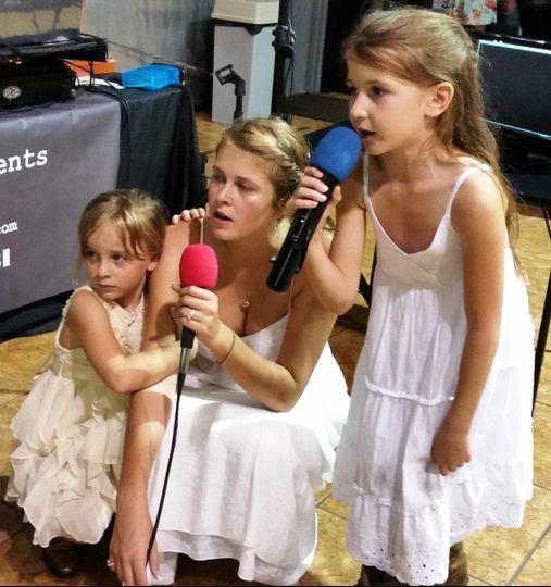 Wedding celebration with karaoke