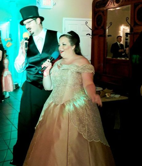 Karaoke at a Wedding with a unique theme