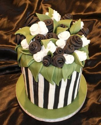 Tmx 1267412266363 Blackstripes2 Bellingham wedding cake