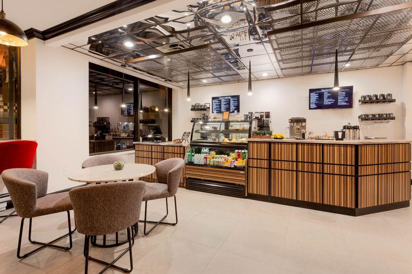 Enjoy a morning coffee in the espresso cafe