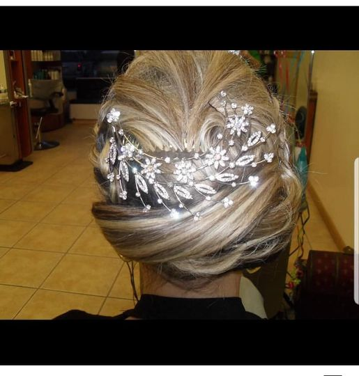 Swooping Jeweled Updo