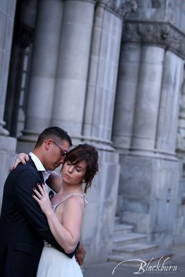 Megan and Justin at the Capitol Building in Downtown Albany, NY.