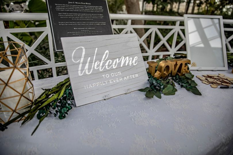 Welcome signage