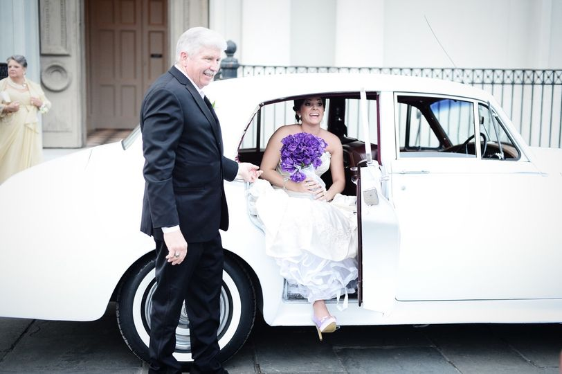 Wedding day arrival