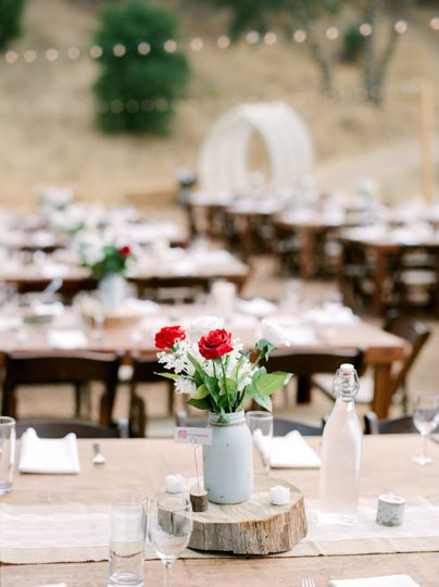 Rustic tablescape in the Agoura Hills - Private estate (Steve Torres Photography)