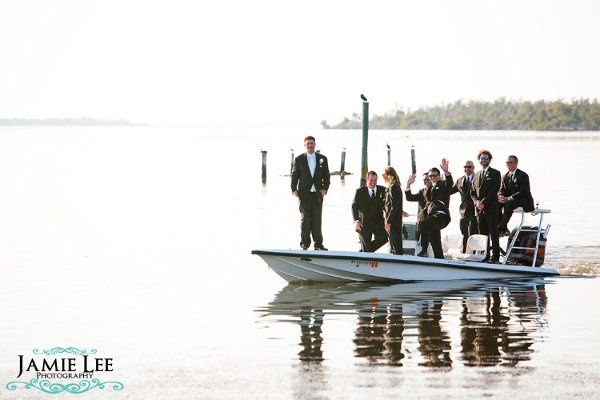 Creative photo of the groom with his groomsmen