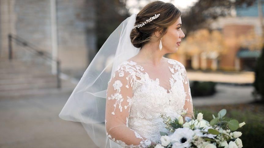 Bride and bouquet - Spencer Wadlington Wedding Video