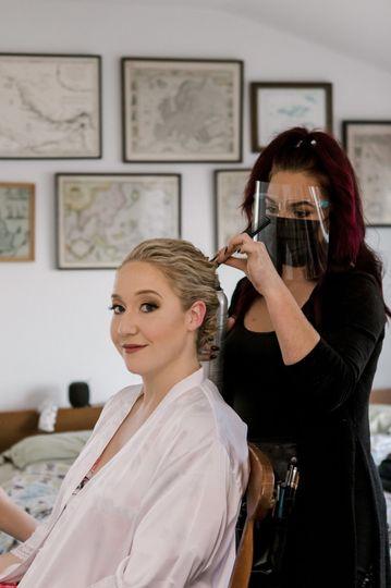 Bridal glam makeup