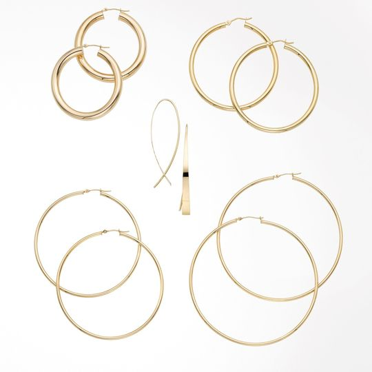 Different hoops and earrings