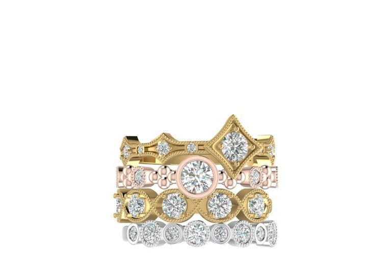 Tmx 4 Ring Stacka 51 1968143 159387209295878 Colts Neck, NJ wedding jewelry