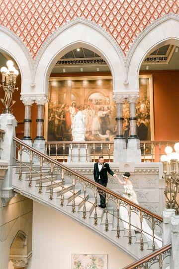 Spring dual museum wedding