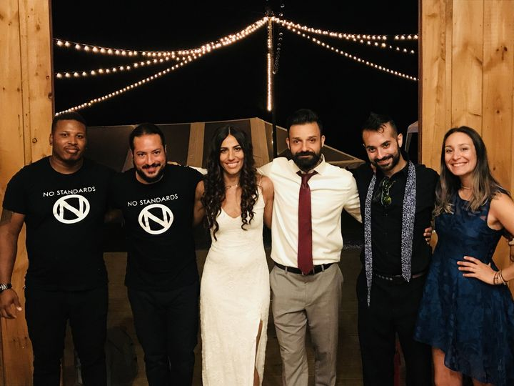 Band and the newlyweds