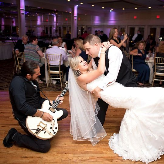 Playing for the newlyweds