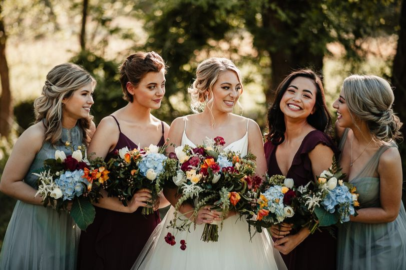 A bride and her tribe