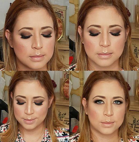 Soft brown smokey eyes makeup