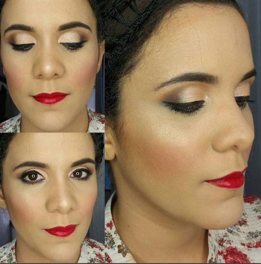 Red lips bridal makeup. #bridalmakeup @weddingmakeup @redlips