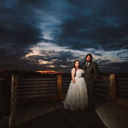 Spring Evening Wedding on wate