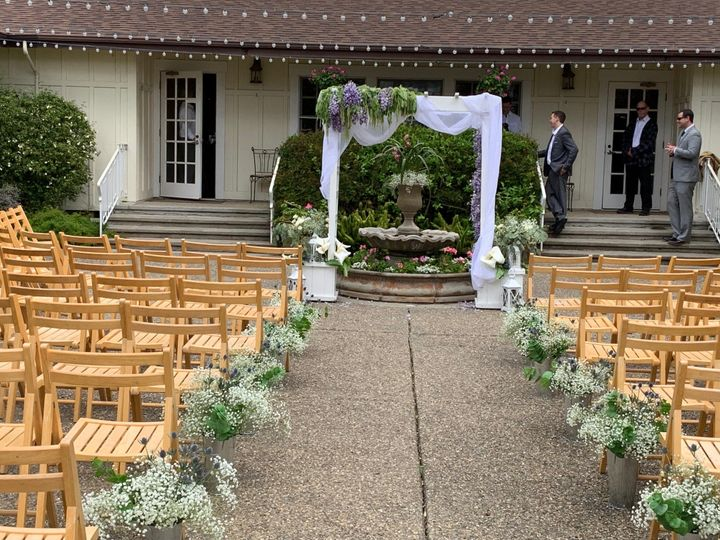 Ceremony in the courtyard