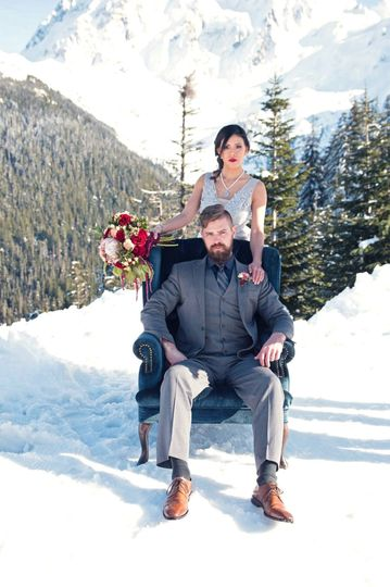 Couple married on top Mt. Bake