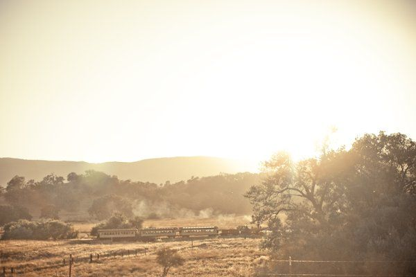 Steam Engine passing through the Ranch. Photography by: Allyson Magda Photography.