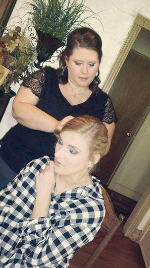 bride preparing for her wedding