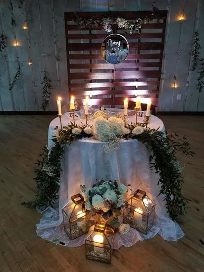 Romantic candle lights