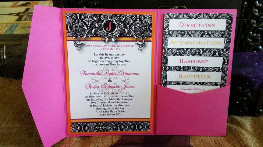 Damask Collection- Pink and Orange