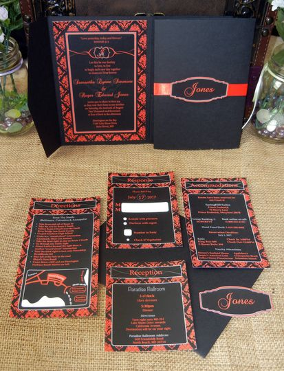 Regal Collection- Customize Black with any other color for your wedding.