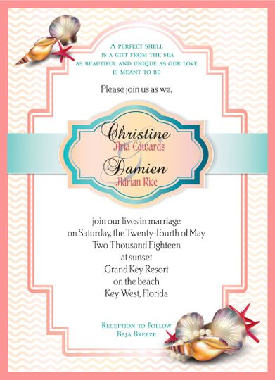 seashell invite with ma