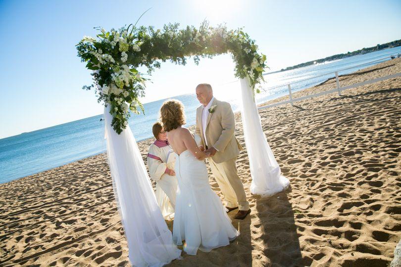 Wedding ceremony by the beach