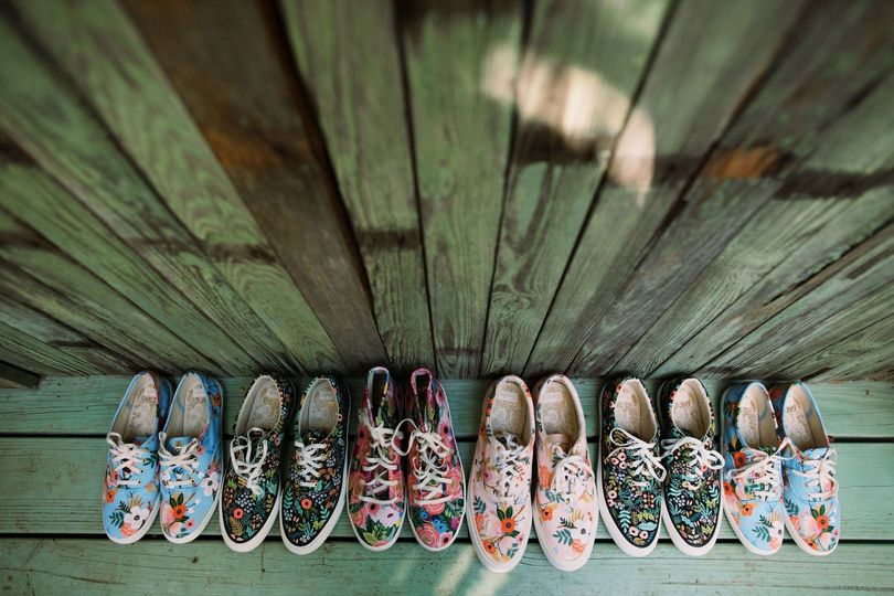 Bride tribe flower vans