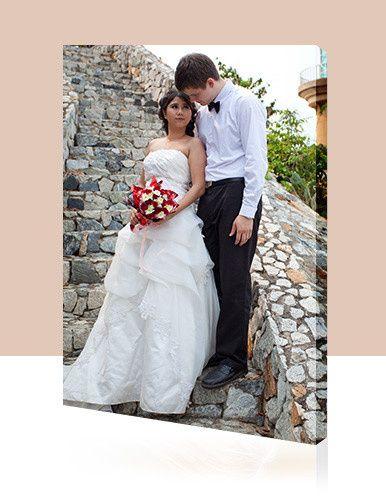 Custom Canvas Print - Wedding photo on Canvas