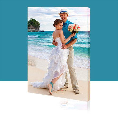 Wedding photo shoot on the beach- Wedding Photo Printed on Canvas