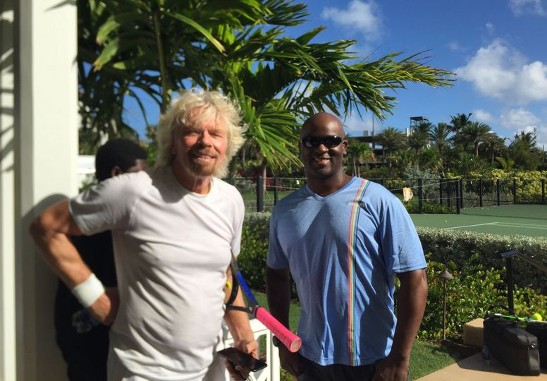 With Sir Richard Branson