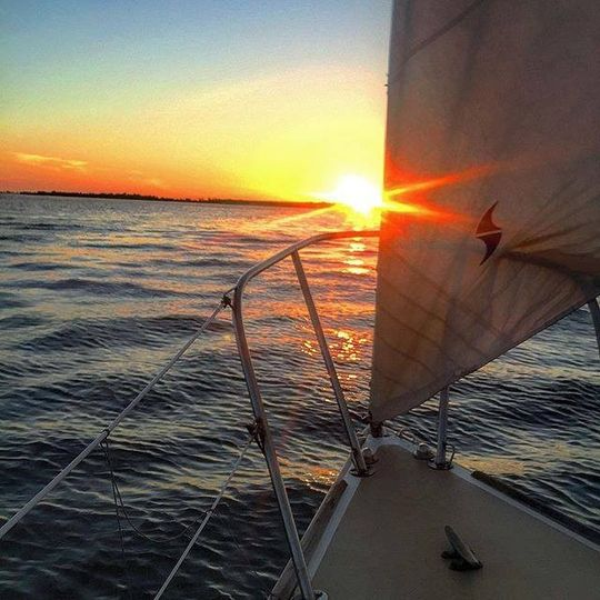 Sail into a sunset