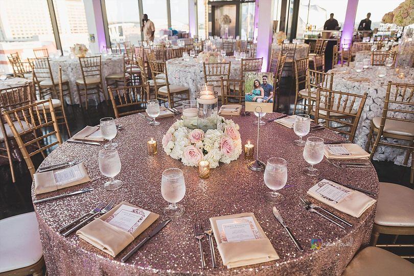 Glam table decor