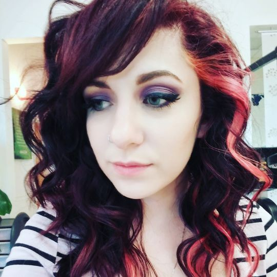 Hair color and curly