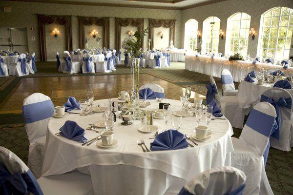 Reception hall decorated for the Sullivan/Daniel Wedding.