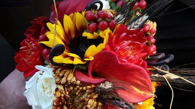 The bouquets all matched but were different flowers. No detail was overlooked. The mixing and...