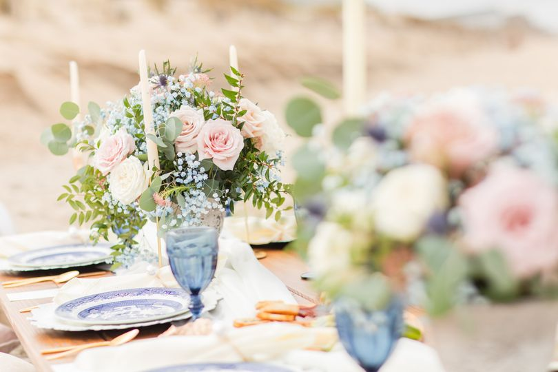 Beach Wedding Table Scape