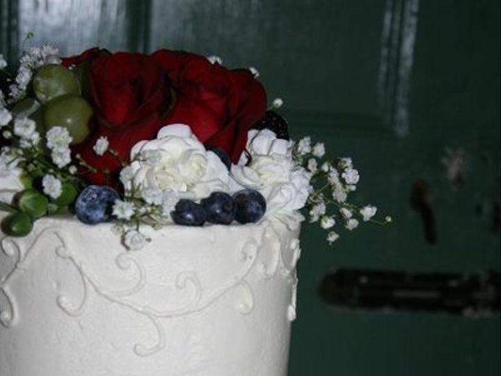 Tmx 1250470130199 2tierFruitFlowerClose Walpole wedding cake