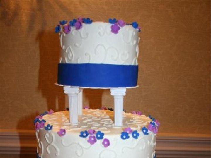 Tmx 1250470139965 BluePurple Walpole wedding cake