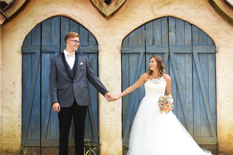 Dress: Posh Bridal Couture Wayzata Suit: Savvi Formalwear Photography: Abigail Ann Photography...