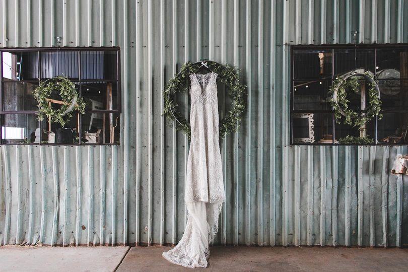 Wedding dress and decor
