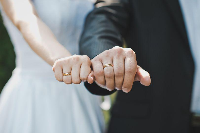 Wearing their rings