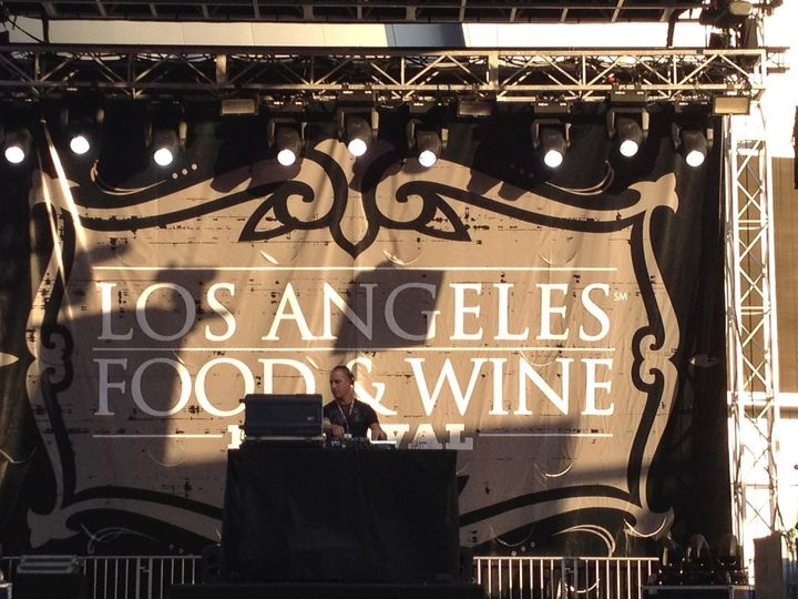 DJ Dustin Fuselier headlines the main stage at the Los Angeles Food and Wine Festival