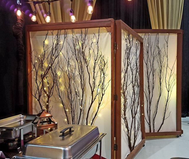 Lighted Branch Screens. Use as a focal point that can double for blocking undesired places in a...