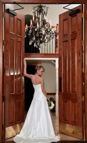 By the door