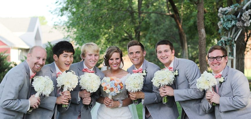 Men and the bride
